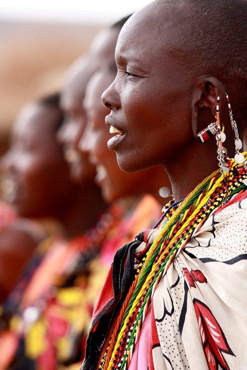 Кения, женщины племя масаи